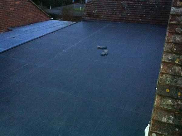 Chichester: Roofing project - EDPM rubber roofing refurb